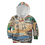 3D Vintage Vehicle Full-Print Hoodie T-shirt