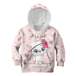 3D Cute Baby Catty Girl Full-Print Hoodie T-shirt