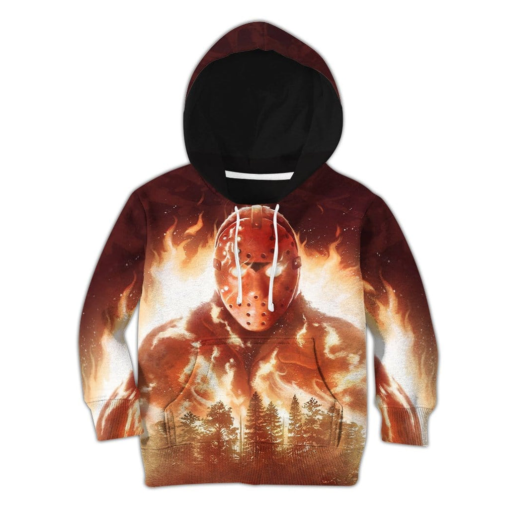 3D Kid Full-Print Jason In Flames Apparel
