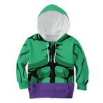 3D The Incredible Hulk Full-Print Hoodie T-shirt