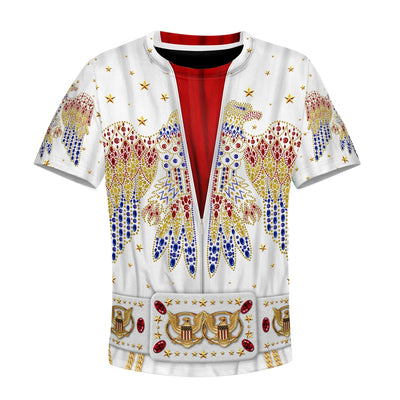 3D Elvis presley suit  Kid Full-Print Hoodie T-shirt