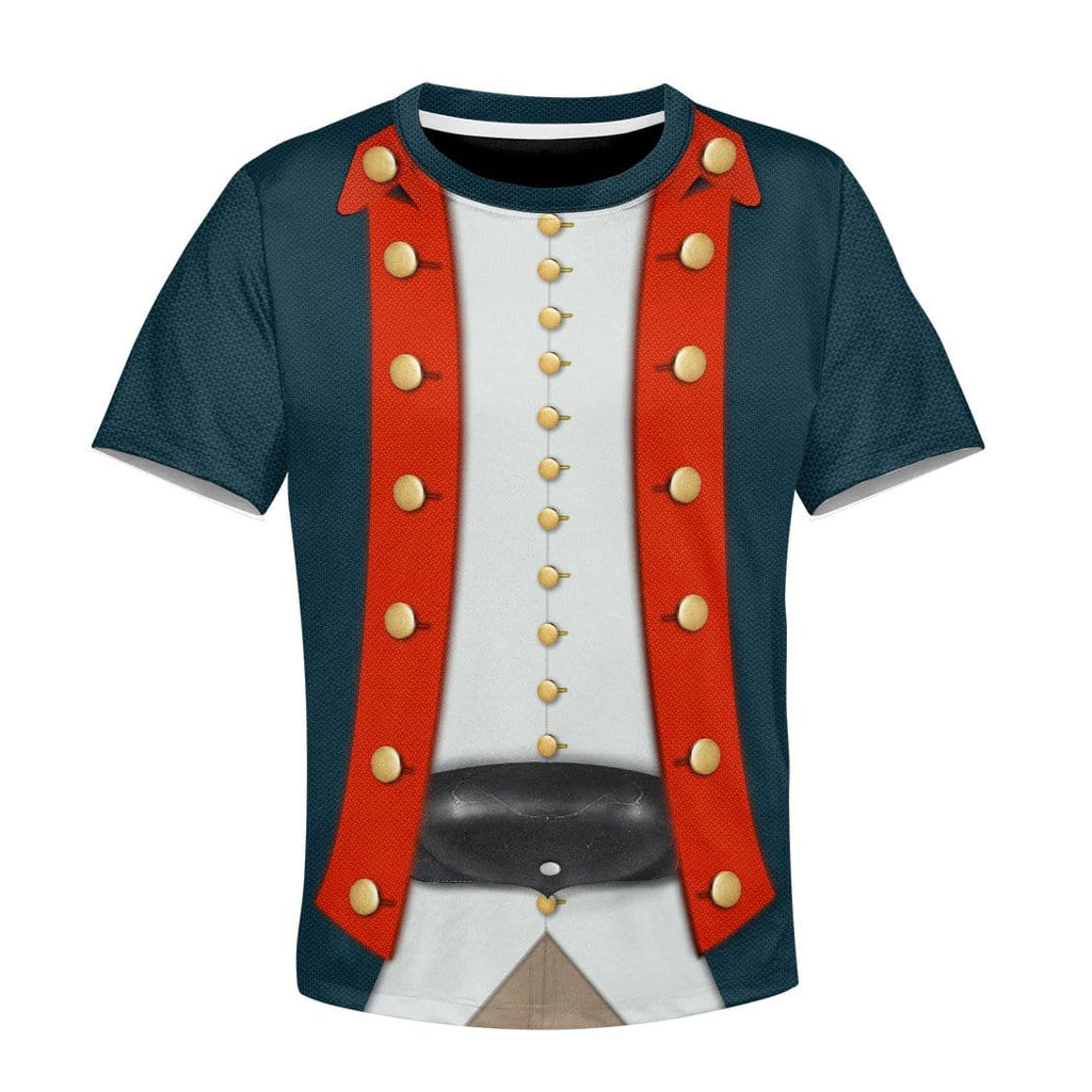 Gearhuman 3D Kid American Revolutionary War Uniform T-Shirts Apparel