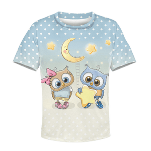3D  Night Owls Full-Print Hoodie T-shirt Apparel
