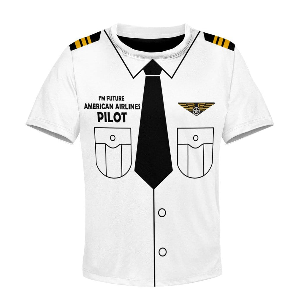 Kid Custom Hoodies T-shirt I'm future American Airlines pilot Apparel