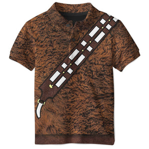 3D SW Chewie Chewbacca  Full-Print Polo T-Shirt Apparel