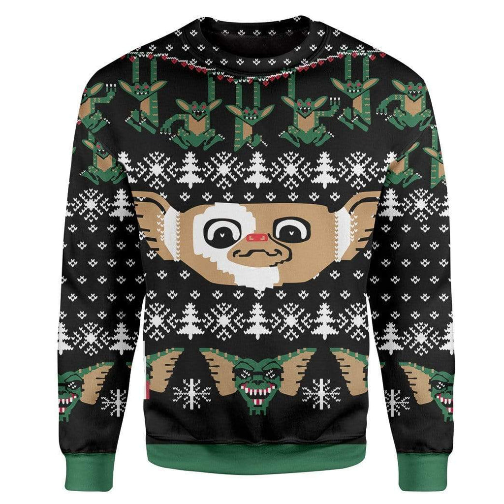 Custom T-shirt - Long Sleeves Ugly Christmas Gremlins Christmas Sweater Jumper