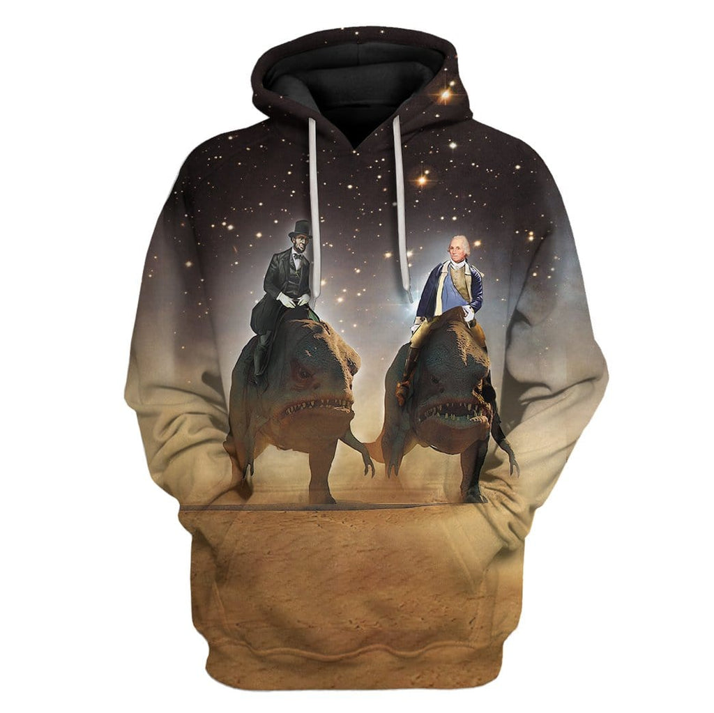 Abraham Lincoln and George Washington T-Shirts Hoodies Apparel