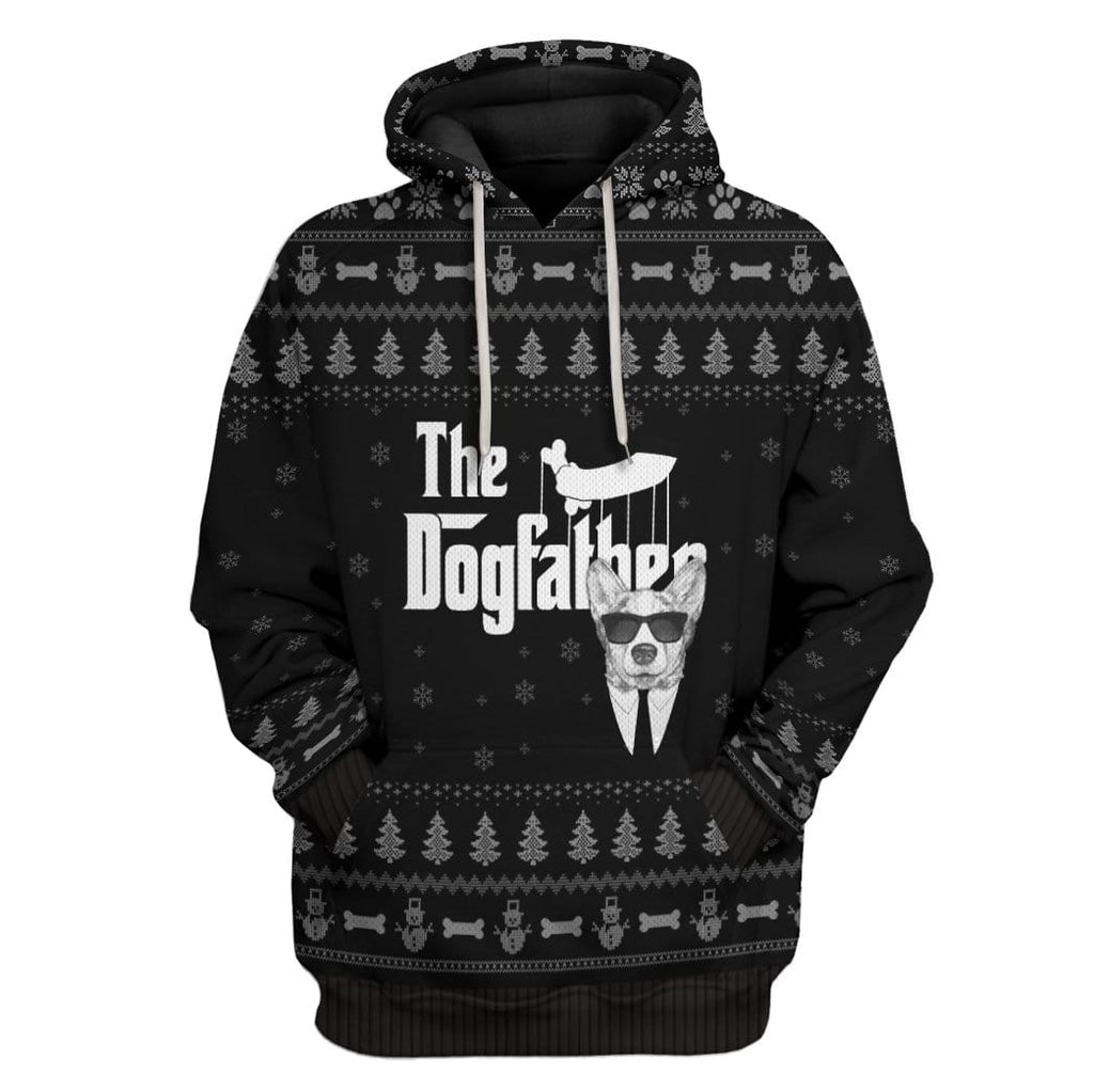 Ugly The DogFather Corgi Christmas Custom Tshirt Hoodies Apparel