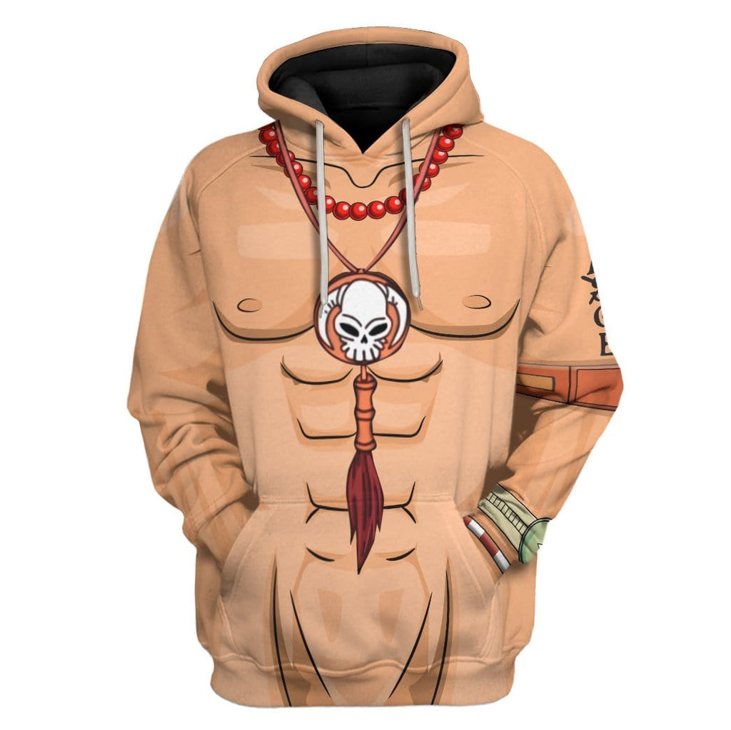 Cosplay Ace One Piece Custom T-Shirts Hoodies Apparel