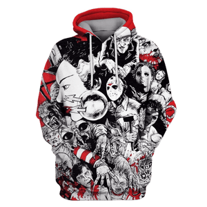Gearhuman 3D Horror Movie Villains Hoodies - Tshirt Apparel