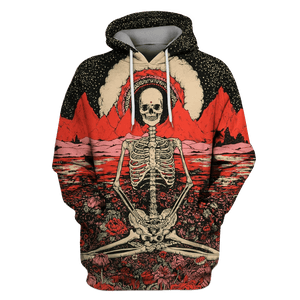Gearhuman 3D yoga skeleton  Tshirt - Zip Hoodies Apparel