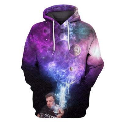 3D  spaceX smoking out space  Hoodie - Tshirt