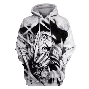 Gearhuman 3D Nightmare on Elm Street Freddy Krueger  Tshirt - Zip Hoodies Apparel