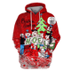 Gearhuman 3D  Christmas Greetings Hanna Barbera Tshirt - Zip Hoodies Apparel