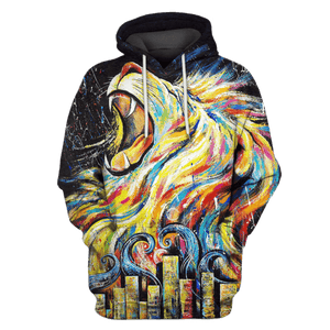Gearhuman 3D Lion Hoodies - Tshirt Apparel