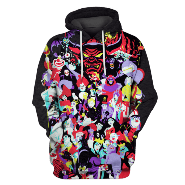 Villains in Disney cartoons Hoodies - T-Shirts Apparel
