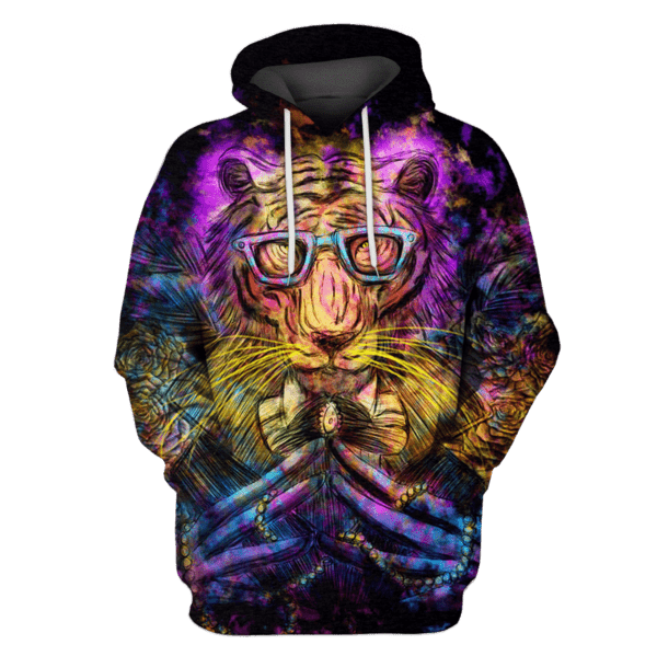 King Tiger glasses Hoodies - Tshir Apparel