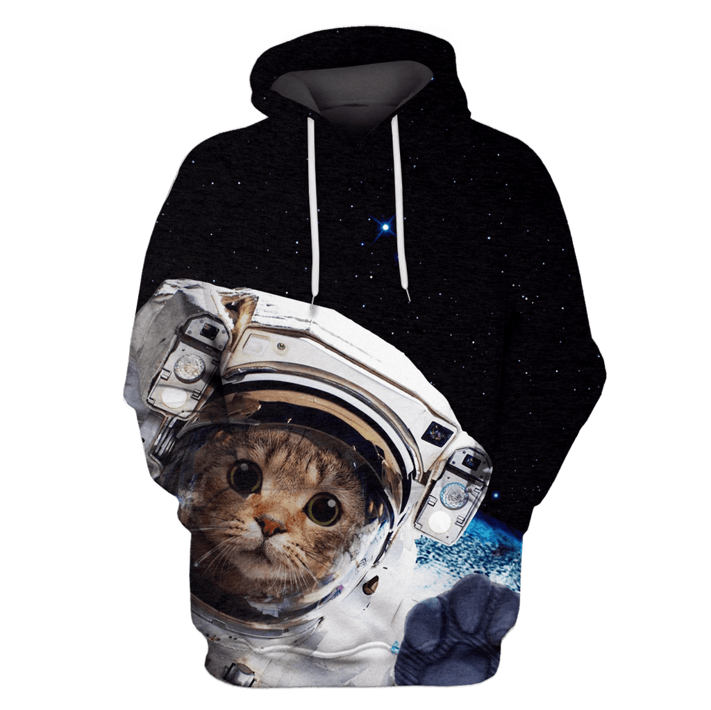 Cat Astronaut Tshirt - Zip Hoodies Apparel