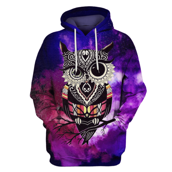 Gearhuman 3d HALLOWEEN Owl Hoodies - T-Shirt Apparel