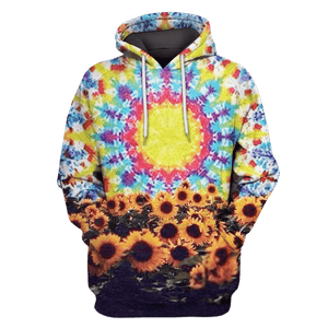 Gearhuman 3D  Sun Flower Hoodies - Tshirt Apparel
