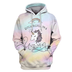 3D Bitch please, i am a unicorn  ZipHoodie - Tshirt