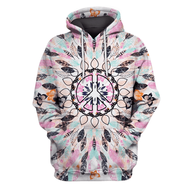 3D Feathers and Butterfly Hoodie Tshirt