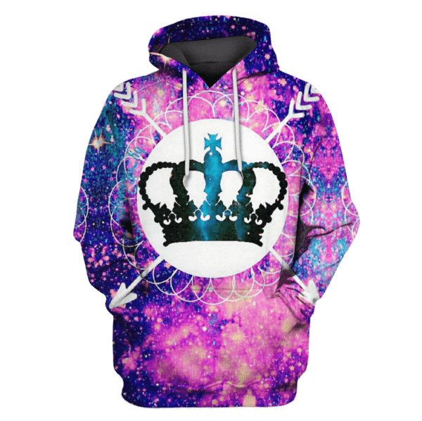 Crown Galaxy Hoodies T-Shirt Apparel