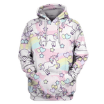 3D Unicorns With Love Hoodie - Tshirt