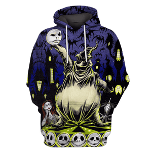 Gearhuman 3D Nightmare before christmas Tshirt - Zip Hoodies Apparel