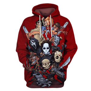 Gearhuman 3D   Horror Movie Slashers  Hoodies - Tshirt Apparel