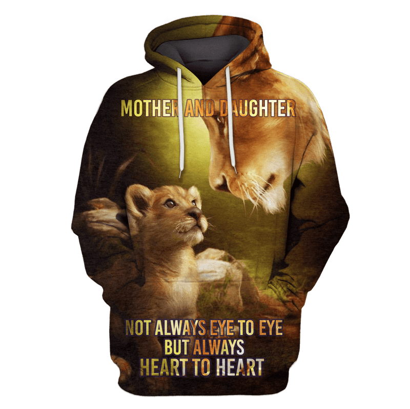 3D not always eye to eye but always heart to heart Hoodie - Tshirt