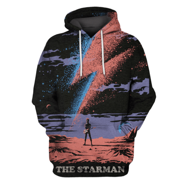 The Starman David Bowie Hoodies - T-Shirts Apparel