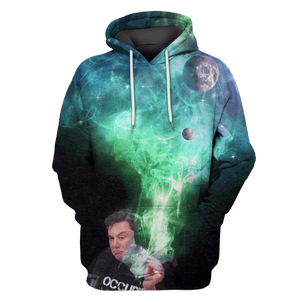 Gearhuman 3D SpaceX Tshirt - Zip Hoodies Apparel