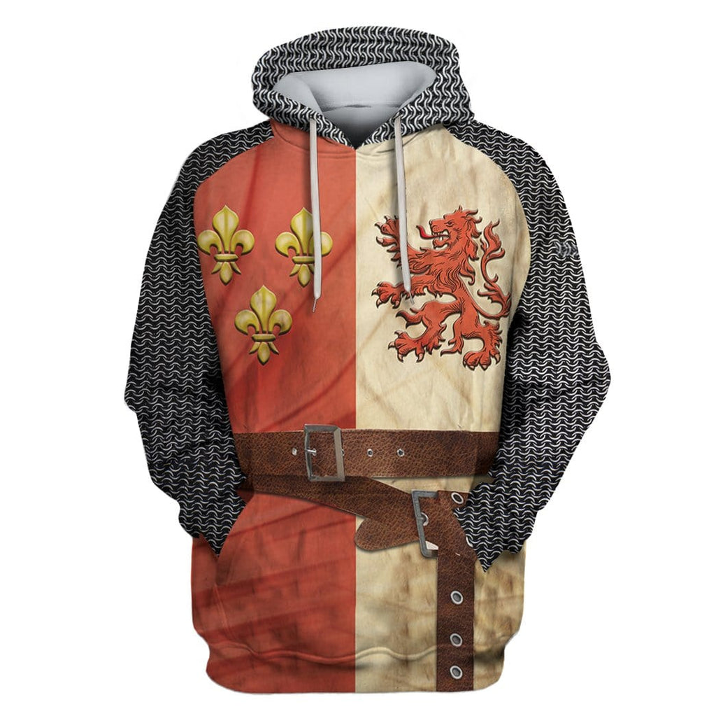 Hoodie Heraldic Knight Suit Custom T-shirt - Hoodies Apparel