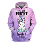 3D i am not perfect but i am limited edition ZipHoodie - Tshirt