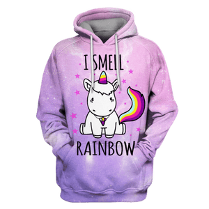 Gearhuman 3D I Smell Rainbow Hoodies - Tshirt Apparel