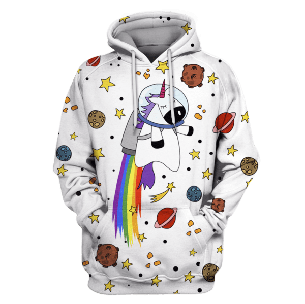 unicornio astronauta ZipHoodies - T-Shirts Apparel