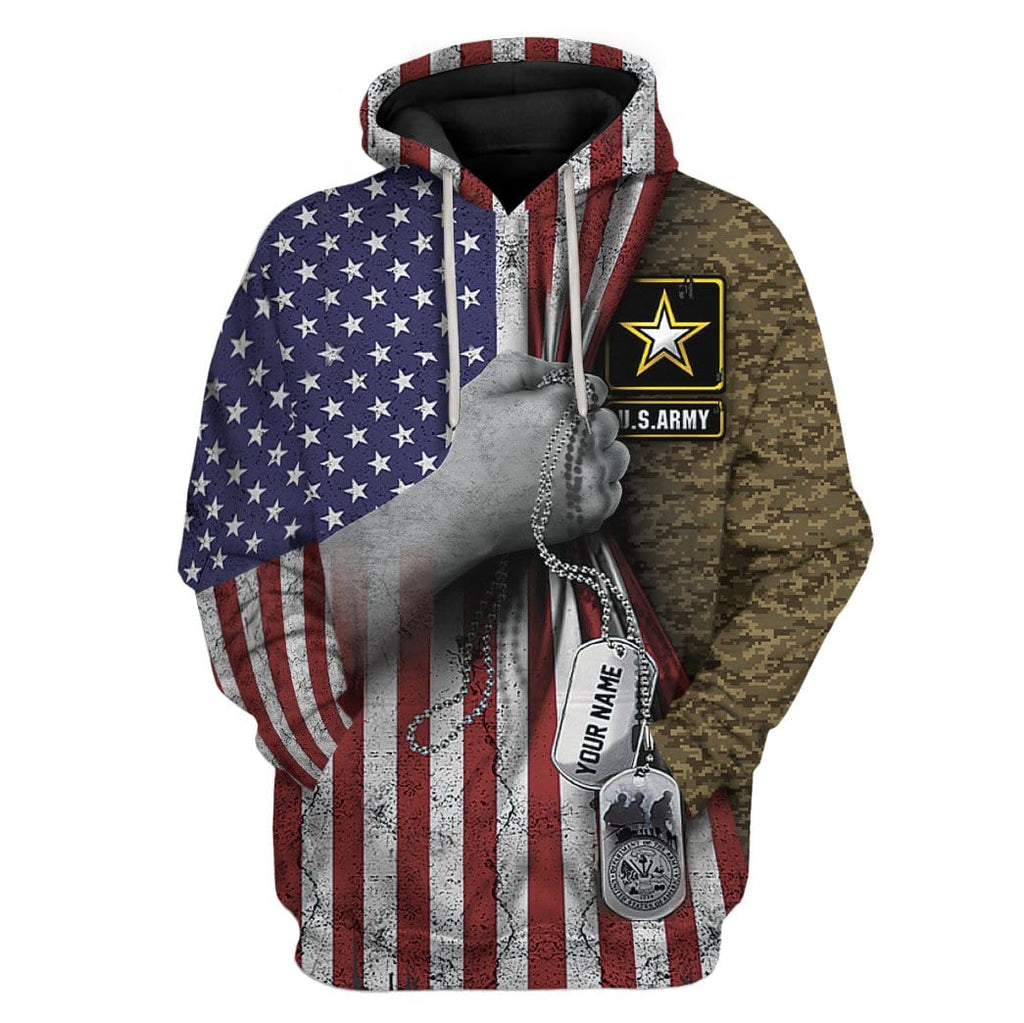 Gearhuman 3D US Army Custom Name Tshirt Hoodies Apparel