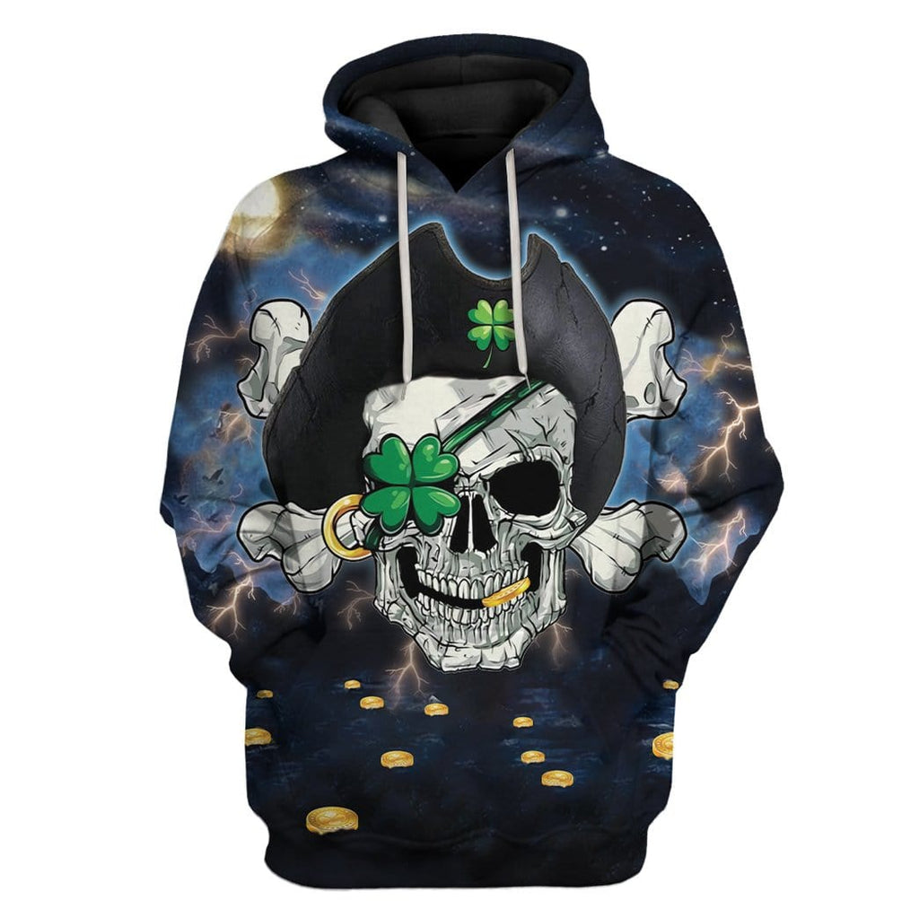 Pirate St Patrick's Day Custom Tshirt Hoodies Apparel