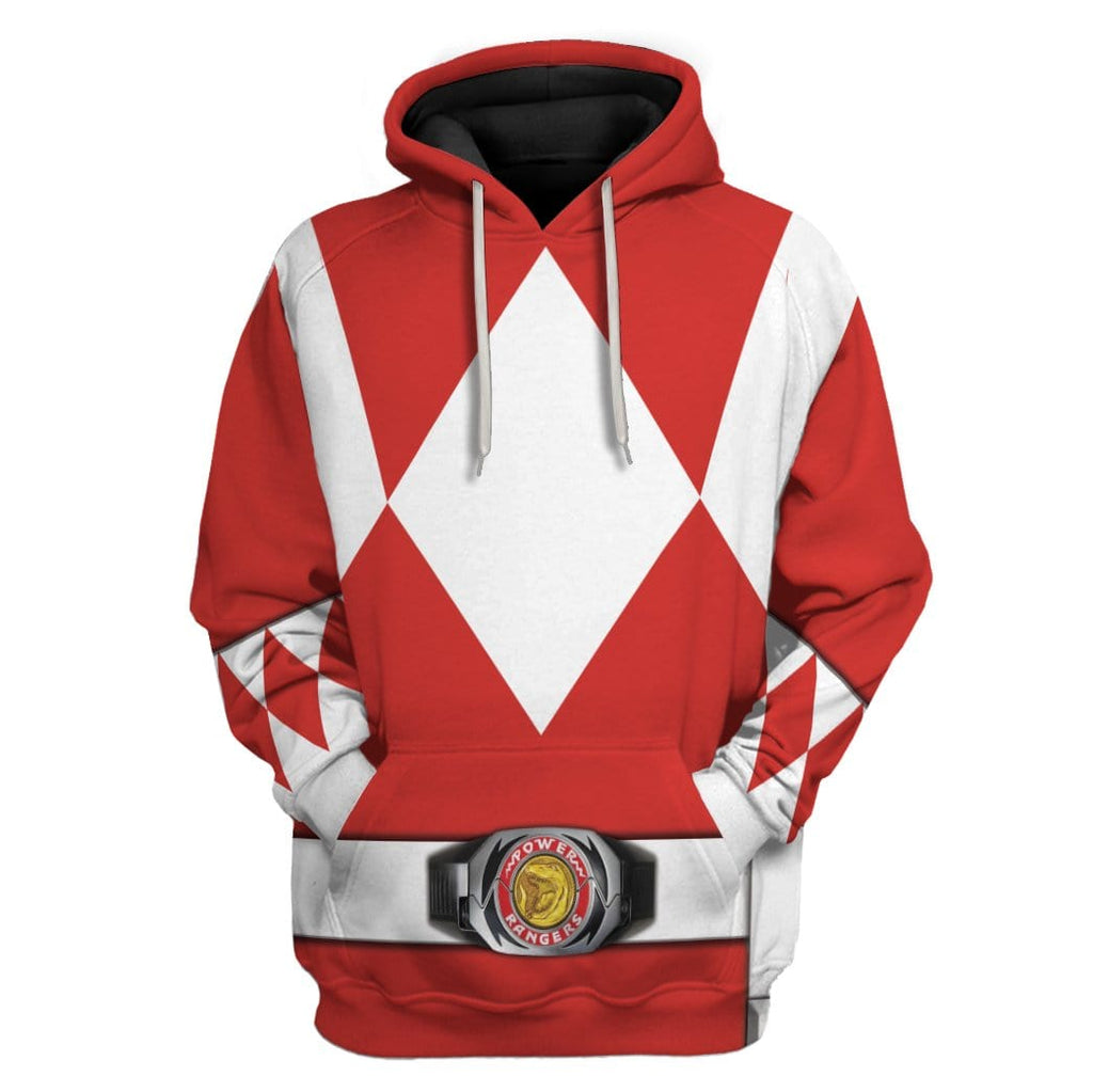Cosplay Red Power Ranger Custom T-Shirts Hoodies Apparel