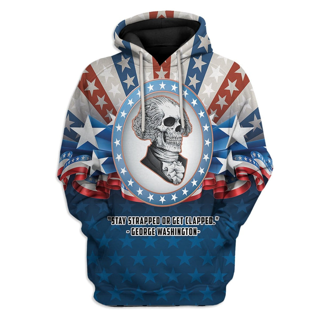Gearhuman 3D Stay Strapped Or Get Clapped Custom T-Shirts Hoodie Apparel
