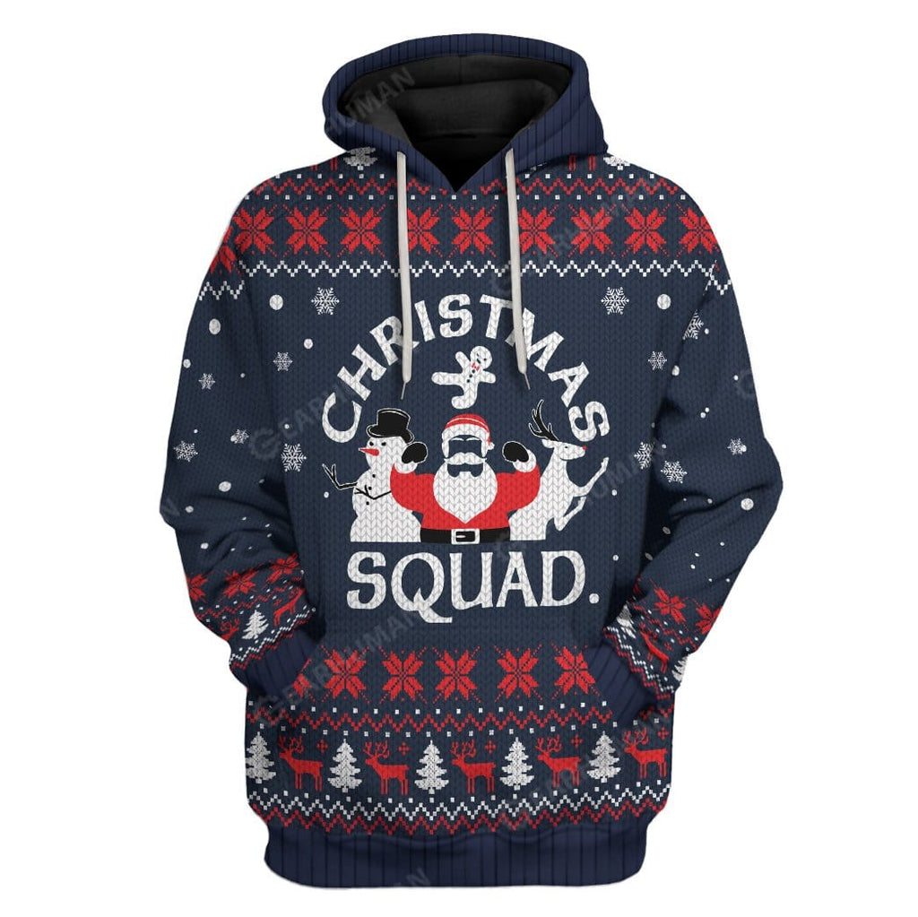 Ugly Christmas Squad Hoodie T-Shirts Apparel