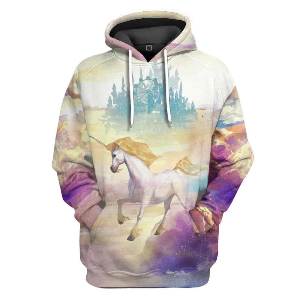 Gearhuman 3D Unicorn Was Born In Heaven Custom Hoodie Apparel