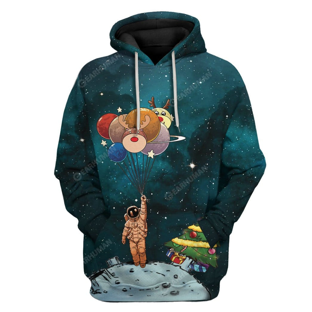 Lonely Christmas In Space Custom T-Shirts Hoodies Apparel
