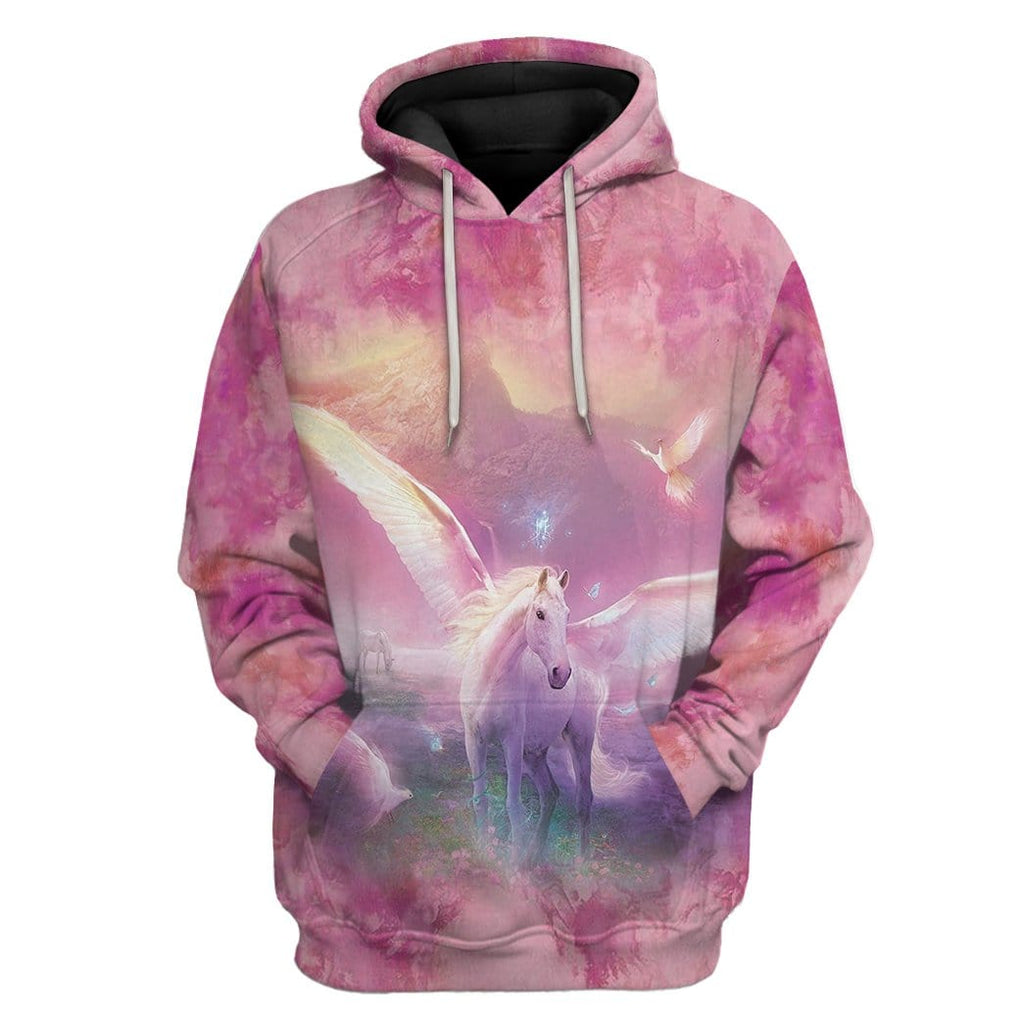 Gearhuman 3D Fantasic Unicorn Custom Hoodie Apparel