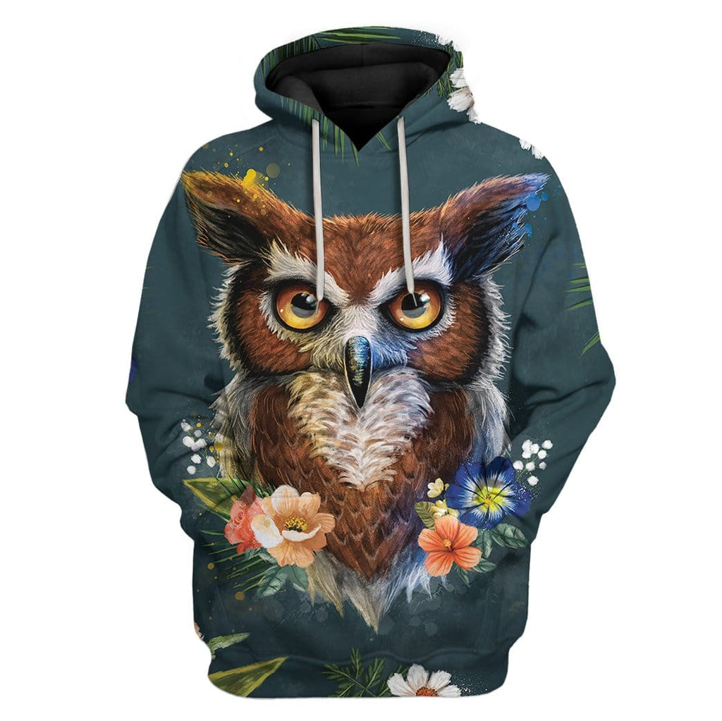 Gearhuman 3D Owl Of Spring Custom T-Shirts Hoodies Apparel