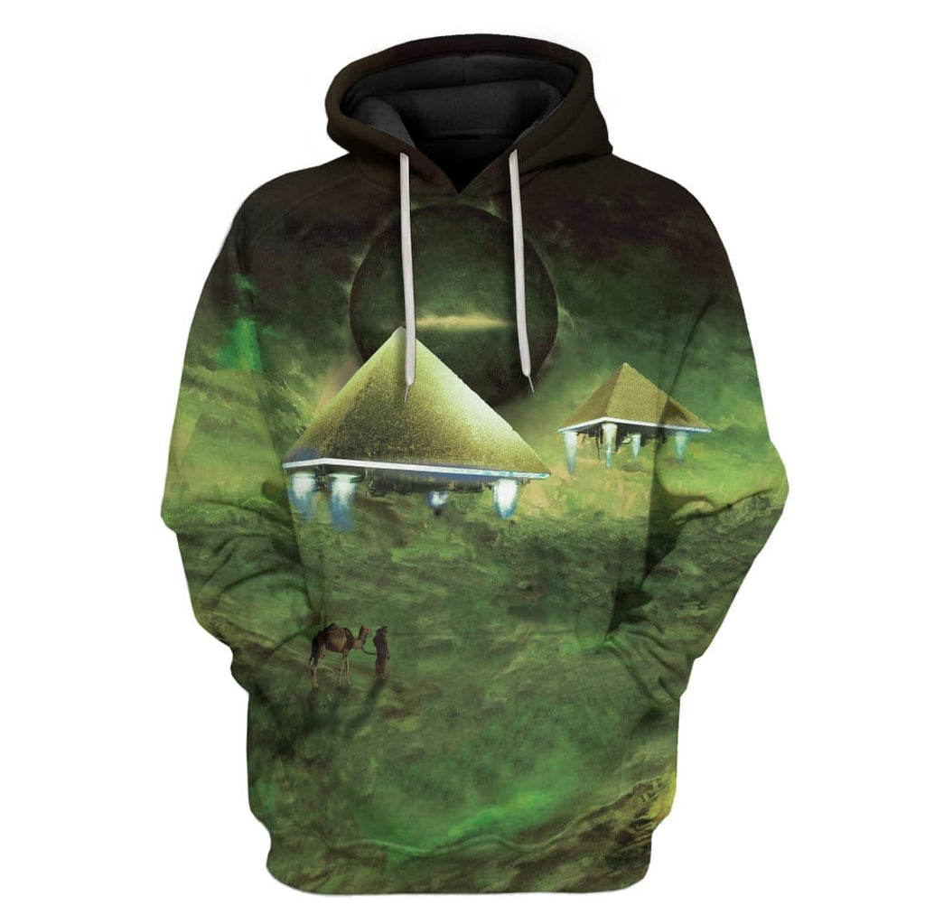 Gearhuman 3D Pyramids At Night Custom Hoodies Apparel
