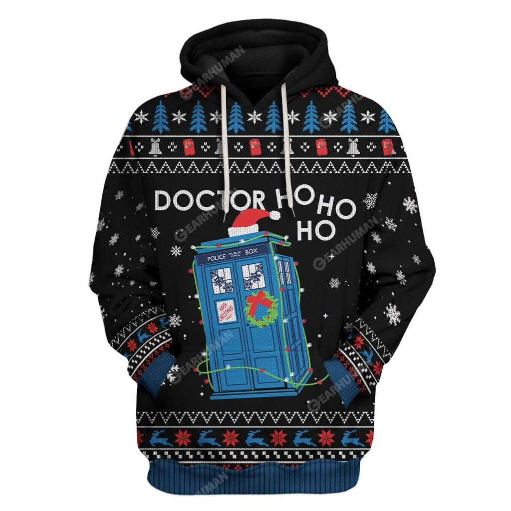 Ugly Christmas Doctor Ho Ho Ho Hoodie T-Shirts Apparel