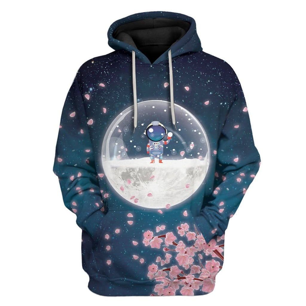 Astronaut On Winter Moon Custom T-Shirts Hoodies Apparel