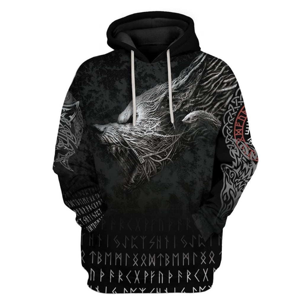 Viking Wolf Custom T-Shirts Hoodies Apparel